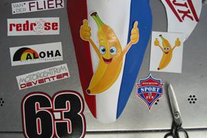 Edwin Bottelier pak in het werk(banaan)