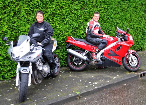 Motorrijder fotoshoot bij MJK Leathers