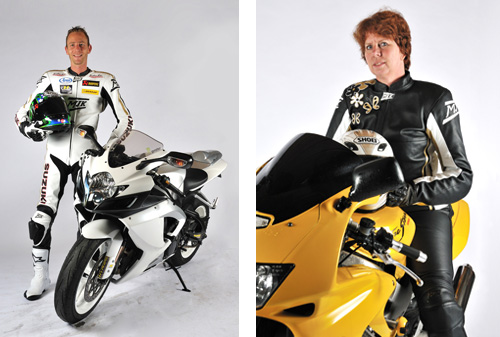 Show je motor op de fotoshoot bij MJK Leathers